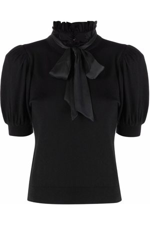 ALICE+OLIVIA Pussy-bow neck knit blouse