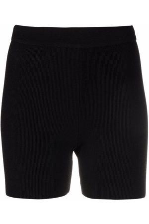 Jacquemus High-waisted ribbed cycling shorts