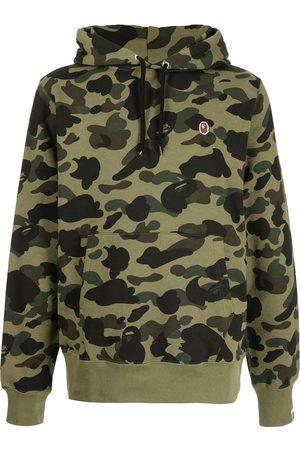 A Bathing Ape Men Sweatshirts - Logo-patch drawstring hoodie