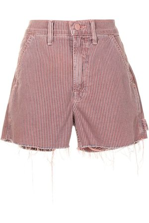 Mother Women Shorts - Frayed-hem corduroy shorts