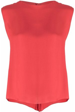 CHANEL 1990s sleeveless buttoned silk top
