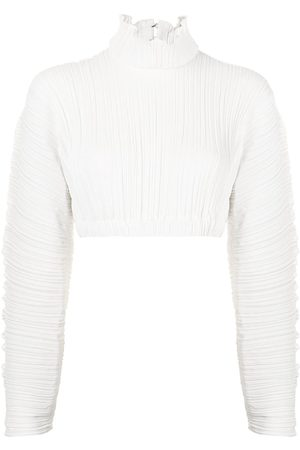 DION LEE PLEATED COCOON LS TOP