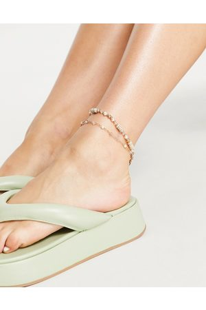Accessorize Pretty anklet in pale pink and