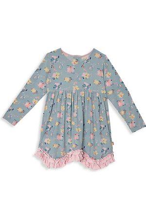 Magnetic Me Girls Printed Dresses - Little Girl's Notting Hill Floral-Print Magnetic Dress