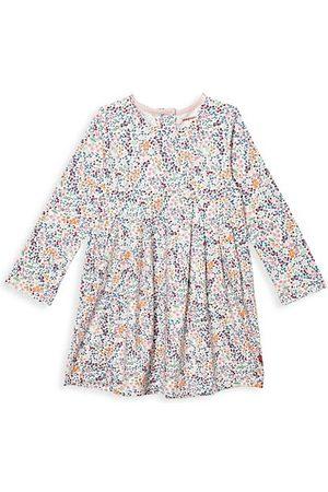 Magnetic Me Girls Printed Dresses - Little Girl's Sheffield Floral-Print Magnetic Dress