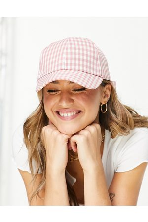 My Accessories Women Hats - London cap with gingham print and bow-Multi