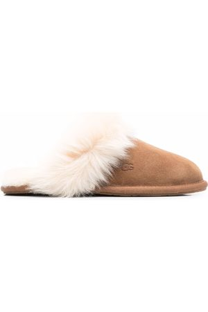 UGG Scuff Sis fur-trimmed slippers
