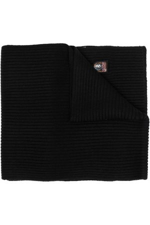 Parajumpers Scarves - Logo-patch ribbed-knit scarf