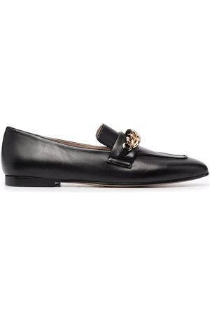 Scarosso Nicole chain-embellished leather loafers