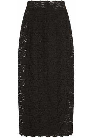 Dolce & Gabbana Women Midi Skirts - Sheer lace midi skirt