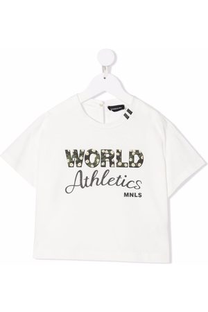 MONNALISA Graphic-print cotton T-shirt