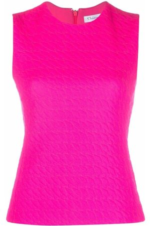 Dior Women Tank Tops - 2010 pre-owned jacquard sleeveless top