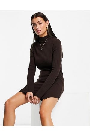 ASOS Women Casual Dresses - Knitted rib mini dress with split detail in