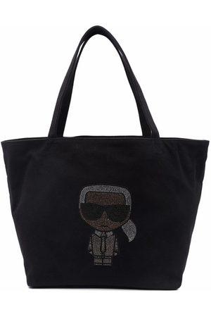 Karl Lagerfeld Women Handbags - K/Ikonik rhinestone-Karl tote bag