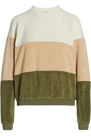 Donni. Women Jumpers - Striped Terry Sweatshirt
