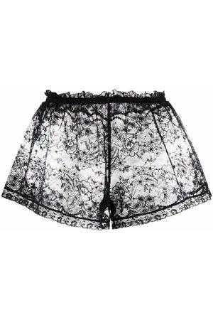 Dolce & Gabbana Women Briefs Shorts - Sheer lace shorts