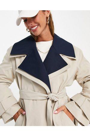 ASOS Women Trench Coats - Double layer trench coat in navy