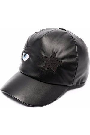 Chiara Ferragni Girls Hats - Eye-patch faux leather baseball cap