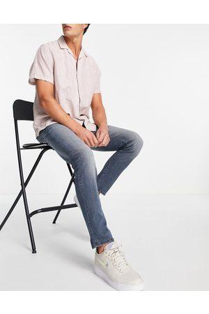 JACK & JONES Men Slim - Intelligence Glenn super stretch slim fit jeans in midwash