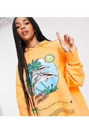 COLLUSION Oversized dolphin hoodie in