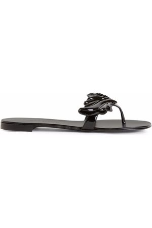 Giuseppe Zanotti Cruel patent-effect flip flops