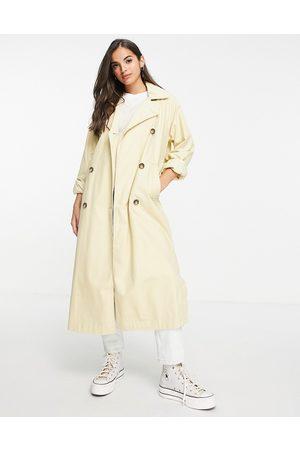 Monki Women Trench Coats - Hedda trench coat in -Neutral