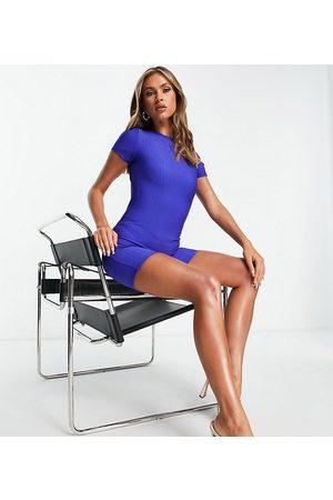 AsYou Women Short Sleeve - Backless short unitard in