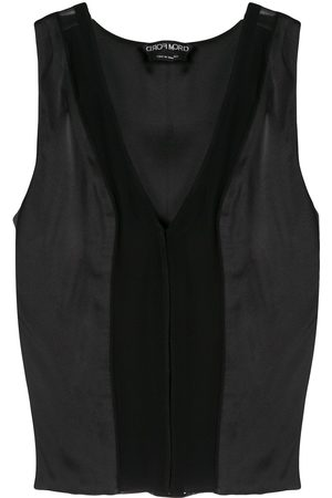 Tom Ford Women Camisoles - Lace panel camisole