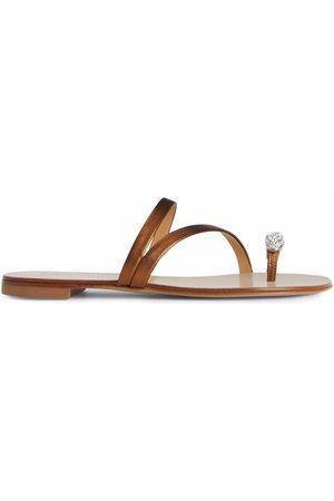 Giuseppe Zanotti Women Sandals - Hillary Ring metallic slides