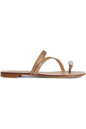 Giuseppe Zanotti Women Sandals - Hillary Ring glitter slides