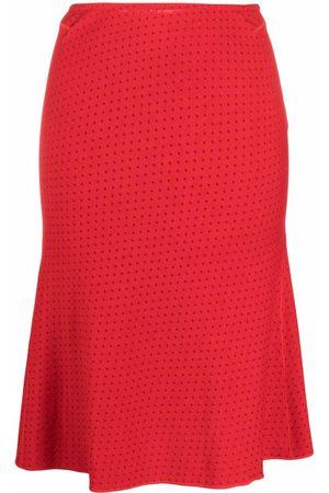 Alaïa Women Skirts - 2000s micro-dot high-waisted skirt
