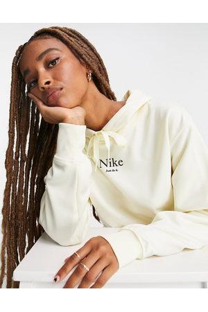 Nike Women Sweatshirts - Oversized hoodie in off with drawcord