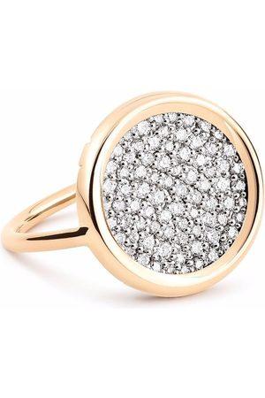 Ginette Women Rings - 18kt rose gold round diamond ring