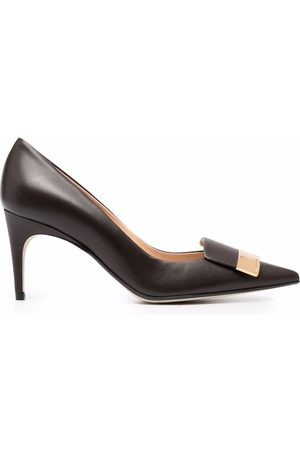 Sergio Rossi Women Shoes - Sr1 metallic-panel 75mm pumps