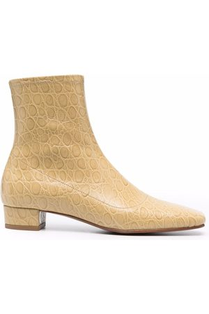 By Far Este ostrich-effect ankle boots