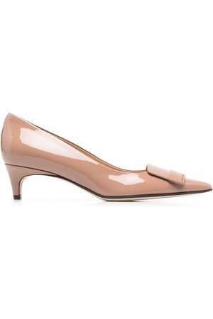 Sergio Rossi Women Shoes - Sr1 metallic-panel 45mm pumps