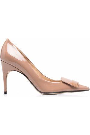 Sergio Rossi Women Shoes - SR1 logo-plaque 75mm pumps