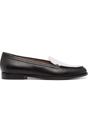 Emporio Armani Contrast-panel leather loafers