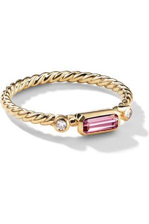 David Yurman 18kt yellow Novella tourmaline and diamond ring