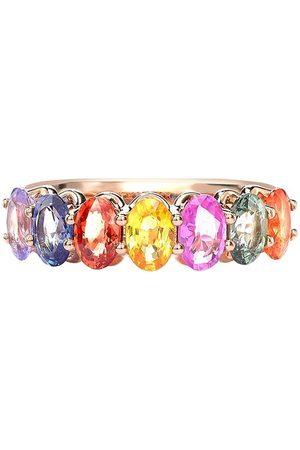 Pragnell 18kt rose sapphire Rainbow Fancy cocktail ring