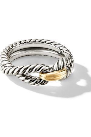 David Yurman 18kt yellow gold and sterling Cable Loop ring