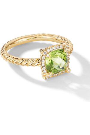 David Yurman Women Rings - 18kt Petite Chatelaine diamond and peridot ring