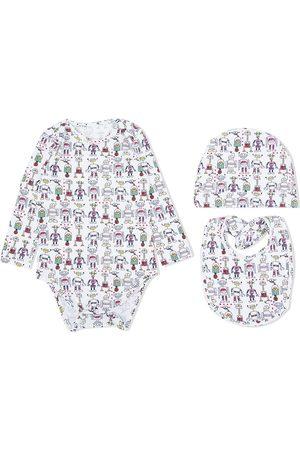 Marni Baby Bodysuits - Cartoon-print stretch-cotton babygrow set