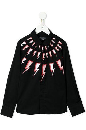 Neil Barrett Boys Tops - Graphic-print cotton shirt