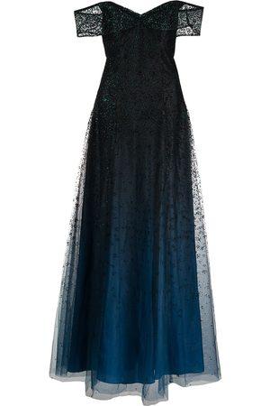 Marchesa Notte Women Party Dresses - Off-shoulder embellished gown