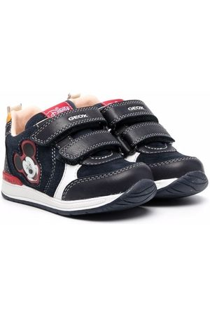 Geox Touch-strap logo-print trainers