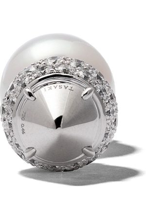 Tasaki 18kt white gold refined rebellion novel diamond earring