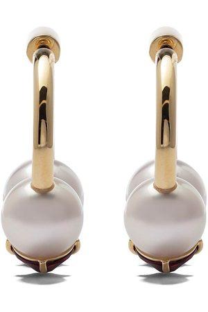 Tasaki Women Earrings - 18kt yellow refined rebellion signature garnet earrings