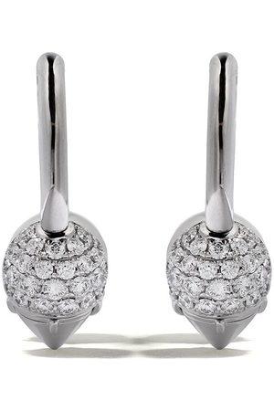 Tasaki 18kt white gold refined rebellion novel diamond earrings