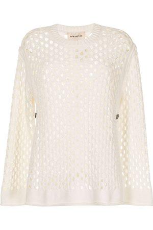 PORTSPURE Mesh-detail jumper